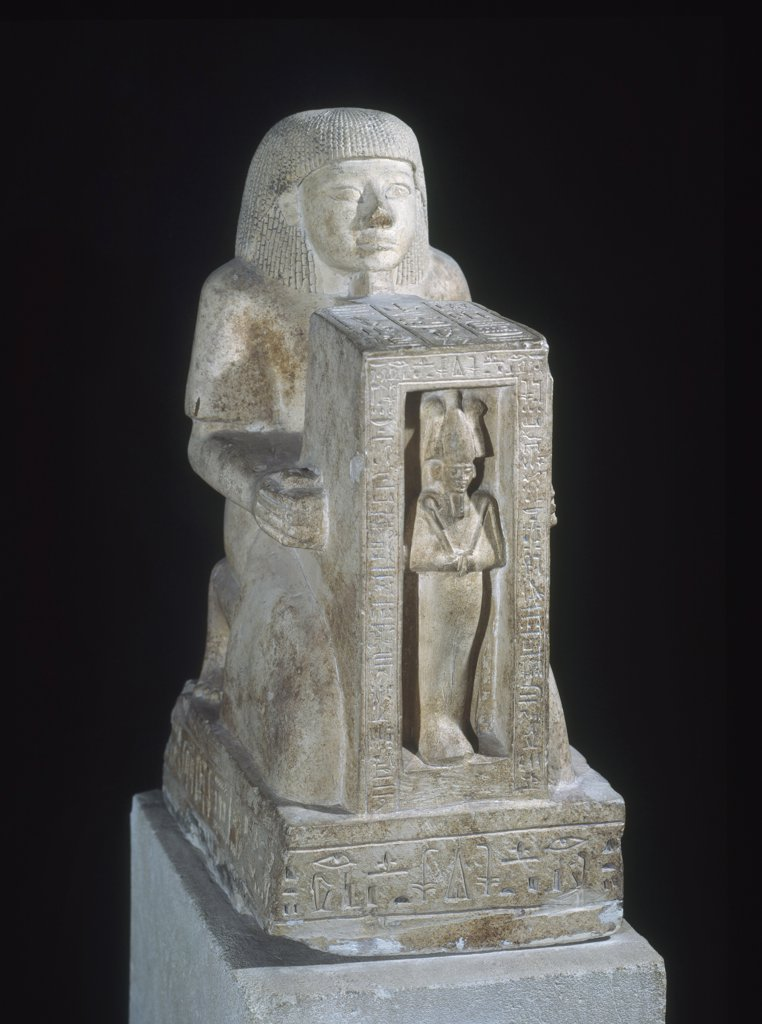 Statue of Royal Scribe Sethi with Osiris 