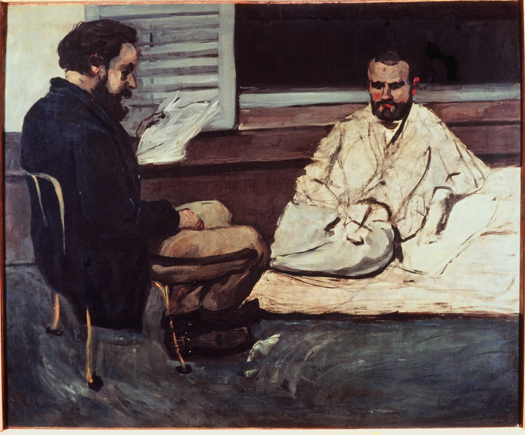 Stock Photo: 1030-173 Paul Alexis Reading a Manuscript to Emile Zola