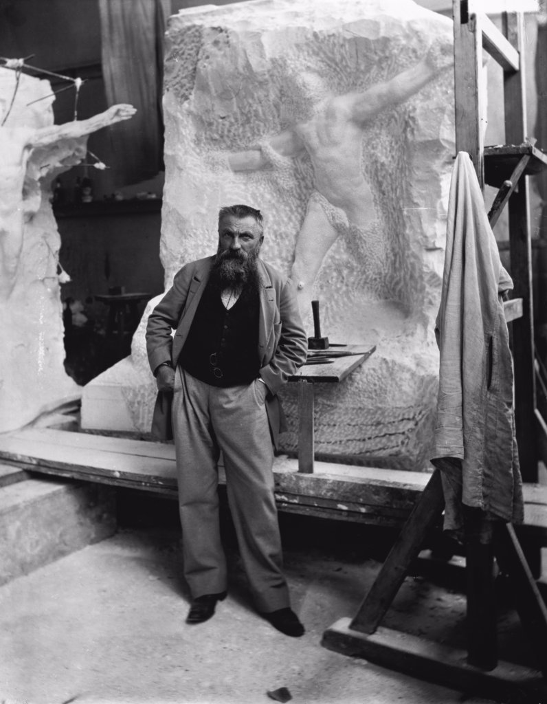 Auguste Rodin, (1840-1917), French Sculptor : Stock Photo