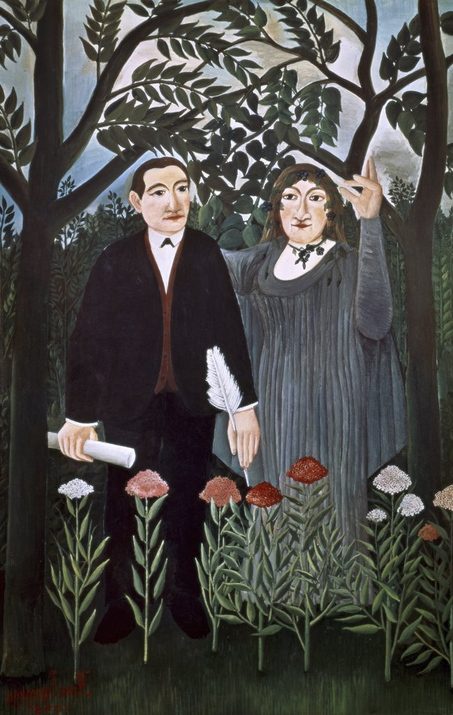 Stock Photo: 1030-220 The Muse Inspiring the Poet (Marie Laurencin & Guillaume Apollinaire)