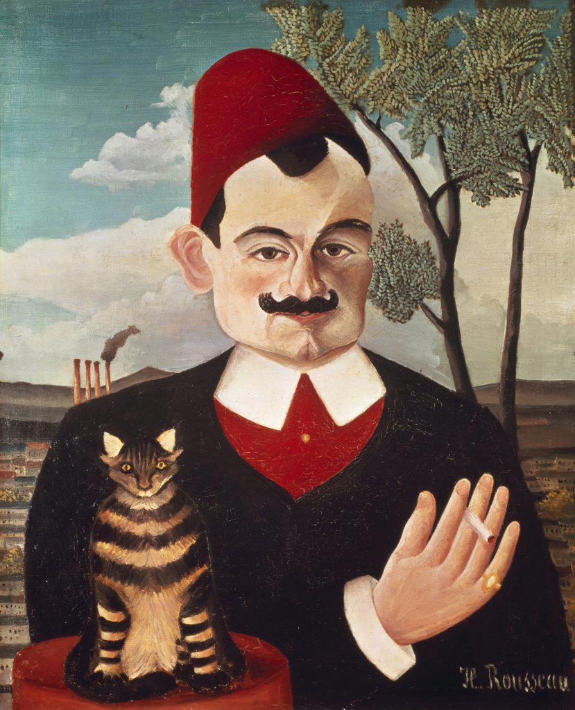 Stock Photo: 1030-224 Portrait of Pierre Loti    c. 1891 Henri Rousseau (1844-1910/French)  Oil on canvas Kunsthaus, Zurich