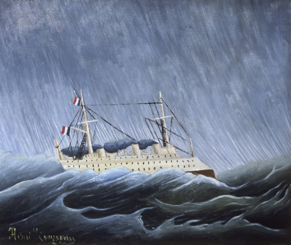 Stock Photo: 1030-232 Ship in a Storm