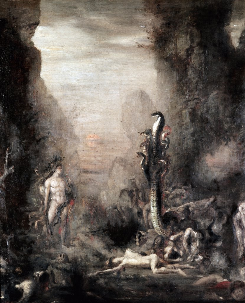 Stock Photo: 1030-251 Hercules and the Hydra of Lerne