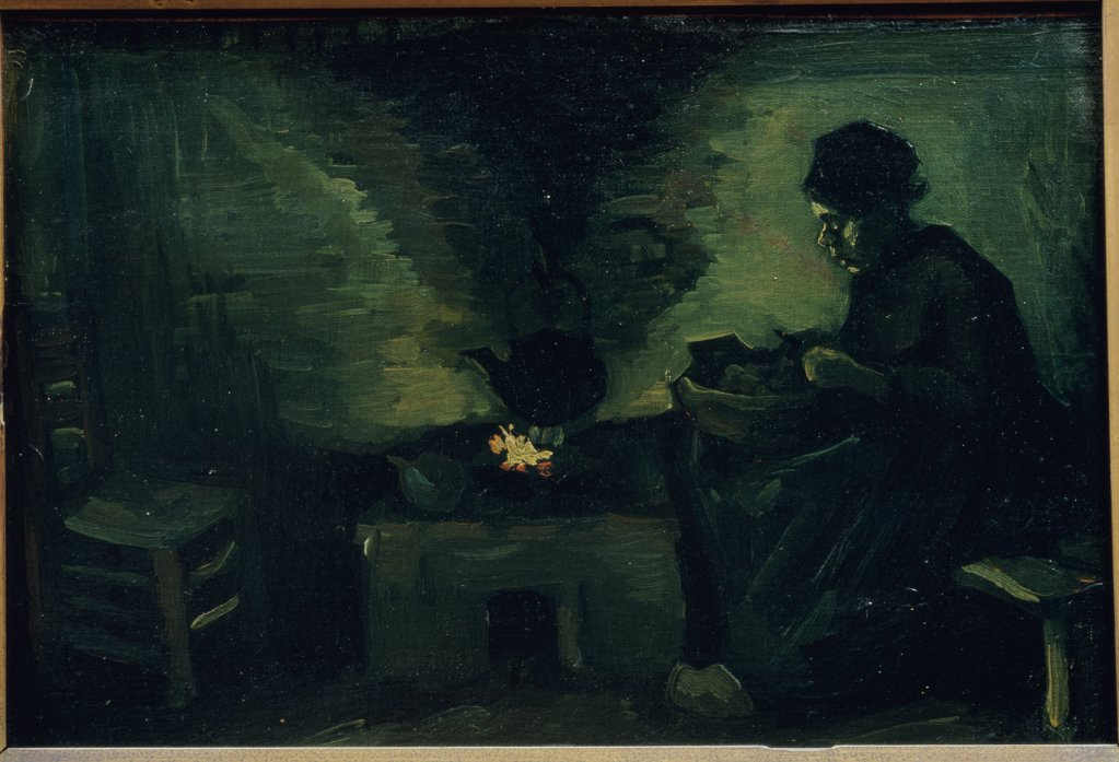 Stock Photo: 1030-274 Peasant Woman Near the Hearth