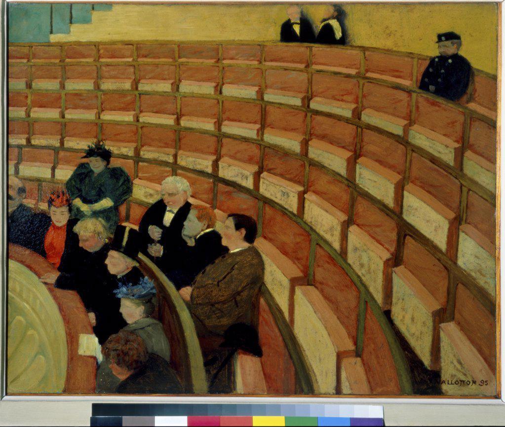 Stock Photo: 1030-313 The Third Gallery at the Theatre du Chatelet  (La Troisieme Gallerie au Theatre du Chatelet)  1895 Felix Edouard Vallotton (1865-1925/Swiss)  Oil on Canvas Musee d'Orsay, Paris