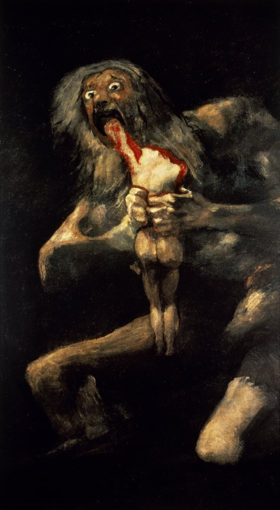 Stock Photo: 1030-318 Saturn Devouring One of His Children 
