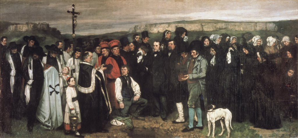 Stock Photo: 1030-373 Un Enterrement A Ornans A Burial At Ornans