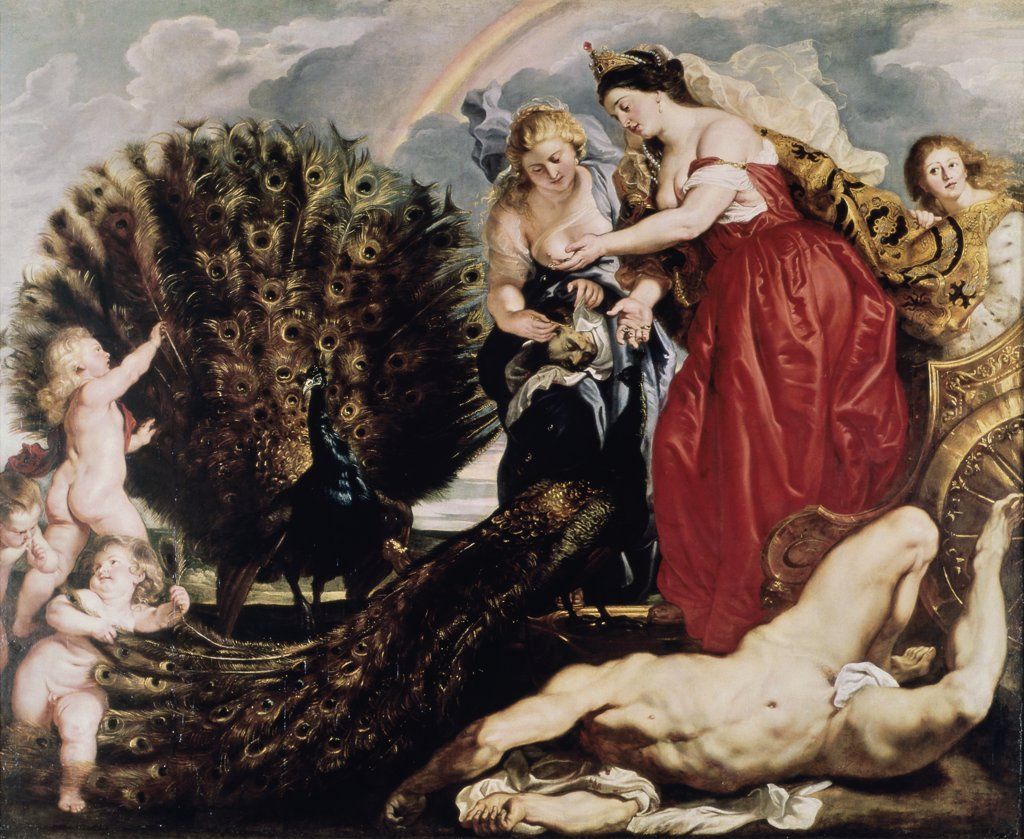 Stock Photo: 1030-395 Juno and Argus 1611 Peter Paul Rubens (1577-1640/Flemish) Oil on Canvas Wallraf-Richartz Museum, Cologne, Germany