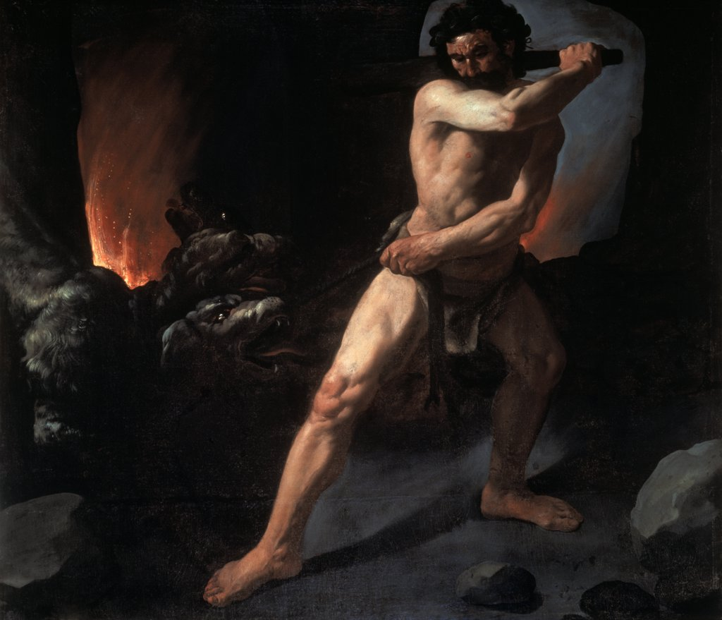 Stock Photo: 1030-410 Hercules and Cerberus