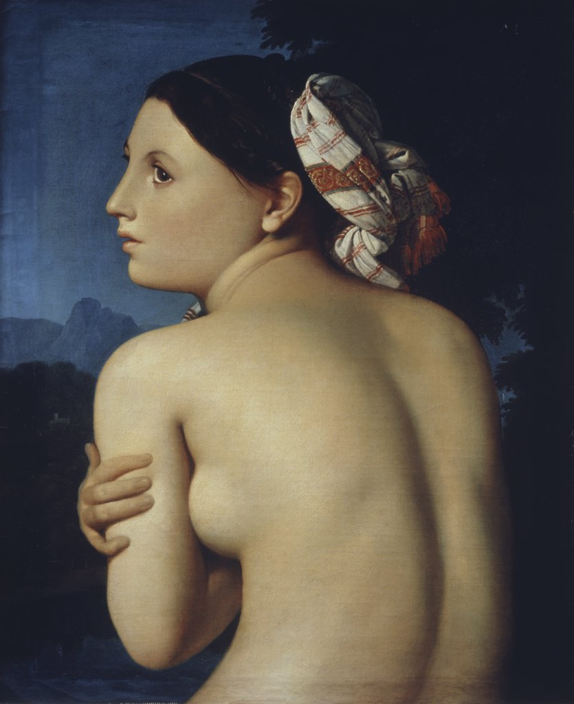 Stock Photo: 1030-426 Bust of Bather Seen From the Back