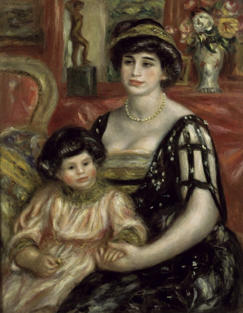 Stock Photo: 1030-433 Madame Josse Bernheim-Jeune And Her Son Henry 