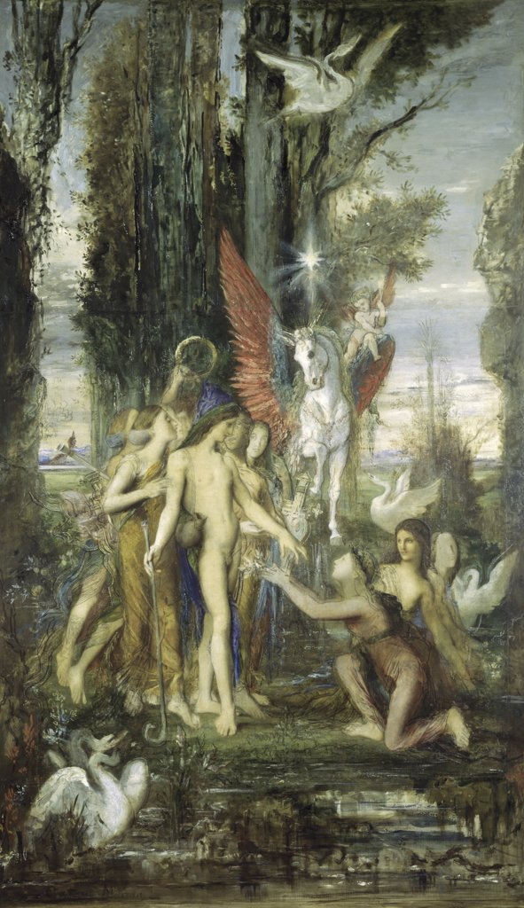 Stock Photo: 1030-438 Hesiod and the Muses