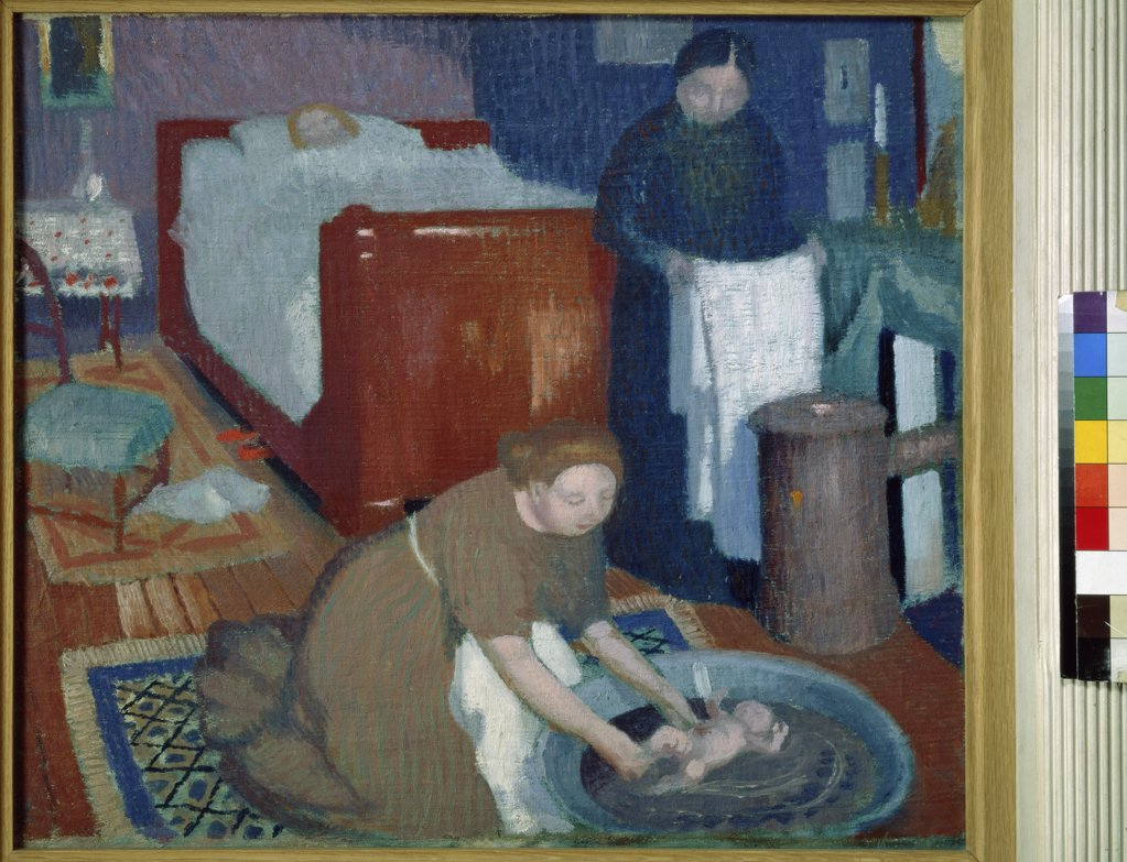 First Bath  (Premiere Toilette)  c. 1899 Maurice Denis (1870-1943/French)  Oil on canvas Private Collection     : Stock Photo