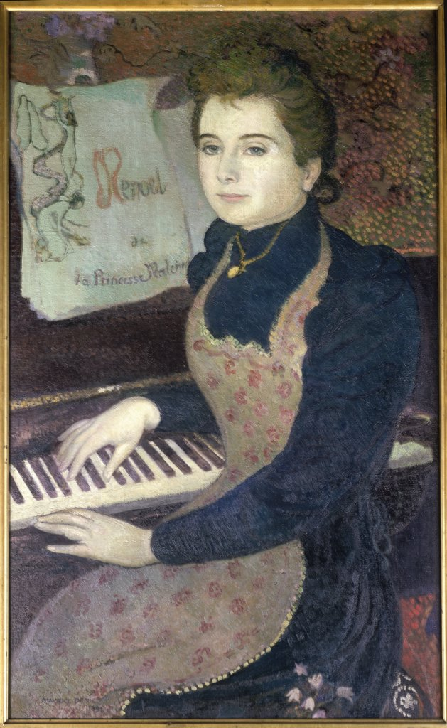 Stock Photo: 1030-471 Martha at the Piano - Minuet of the Princess Maleine Marthe au Piano - Menuet de la Princesse Maline 1891, Oil on Canvas Maurice Denis 1870-1943 French Private Collection