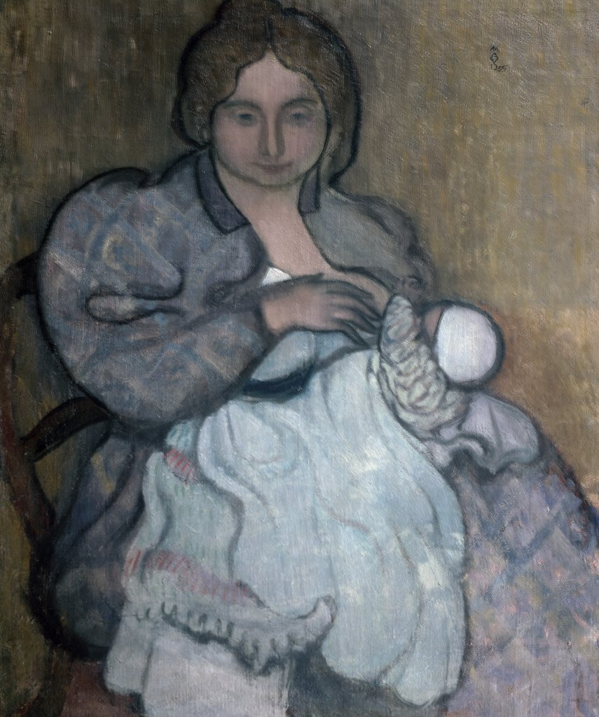 Stock Photo: 1030-472 Maternity with the White Gown (Jean-Paul) 