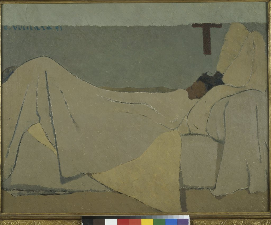 Stock Photo: 1030-526 In Bed  (Au Lit)  1891 Edouard Vuillard (1868-1940/French)  Oil on canvas Musee d'Orsay, Paris