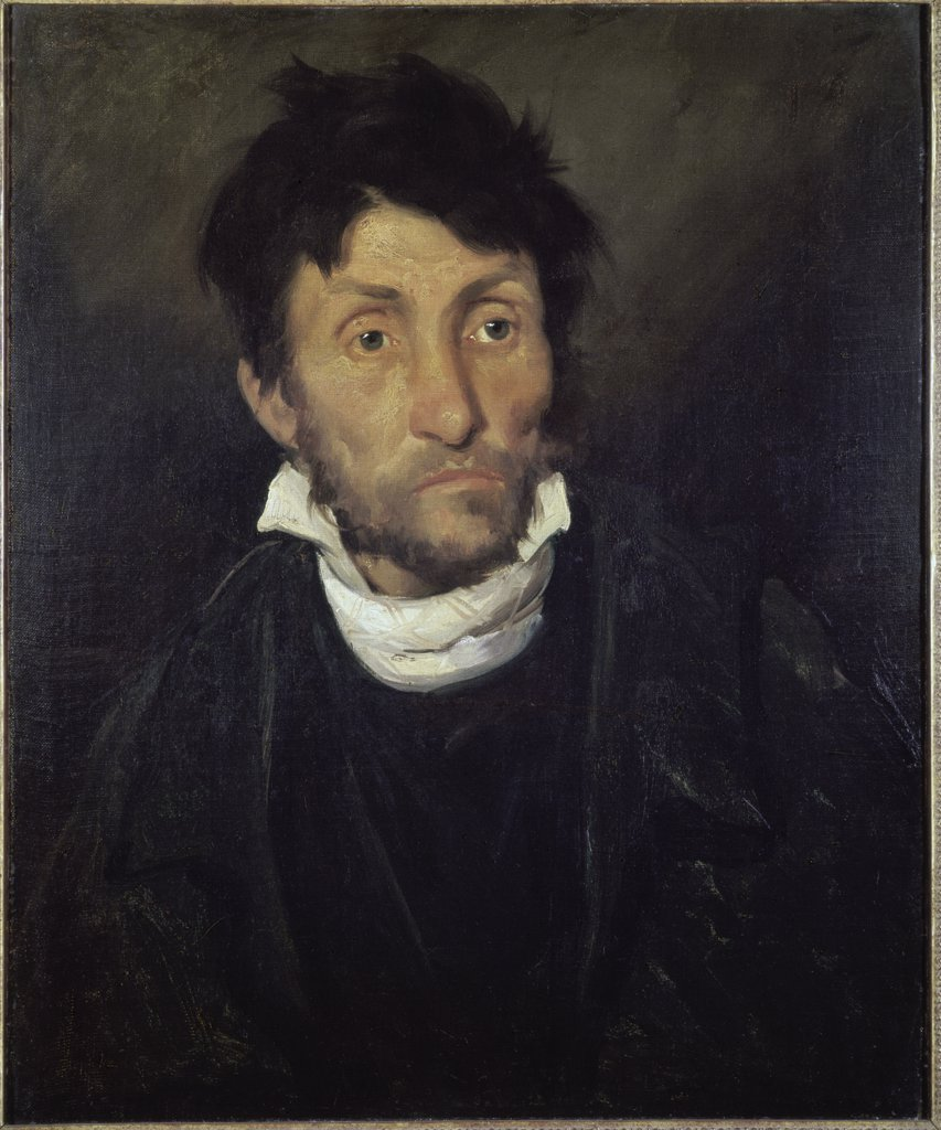 The Mad Assassin (The Insane Kleptomaniac or the Monomaniac of Robbery Theodore Gericault (1791-1824 French)