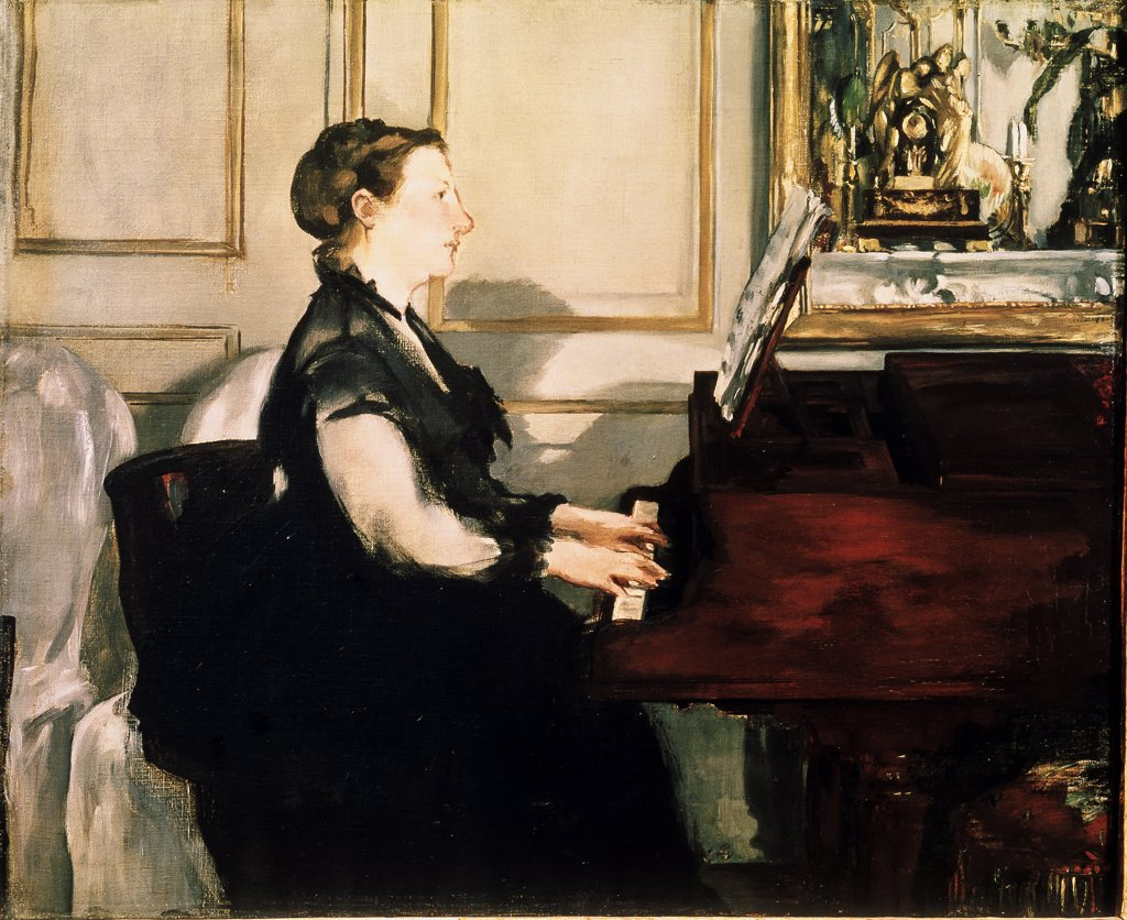 Stock Photo: 1030-64 Madame Edouard Manet at the Piano