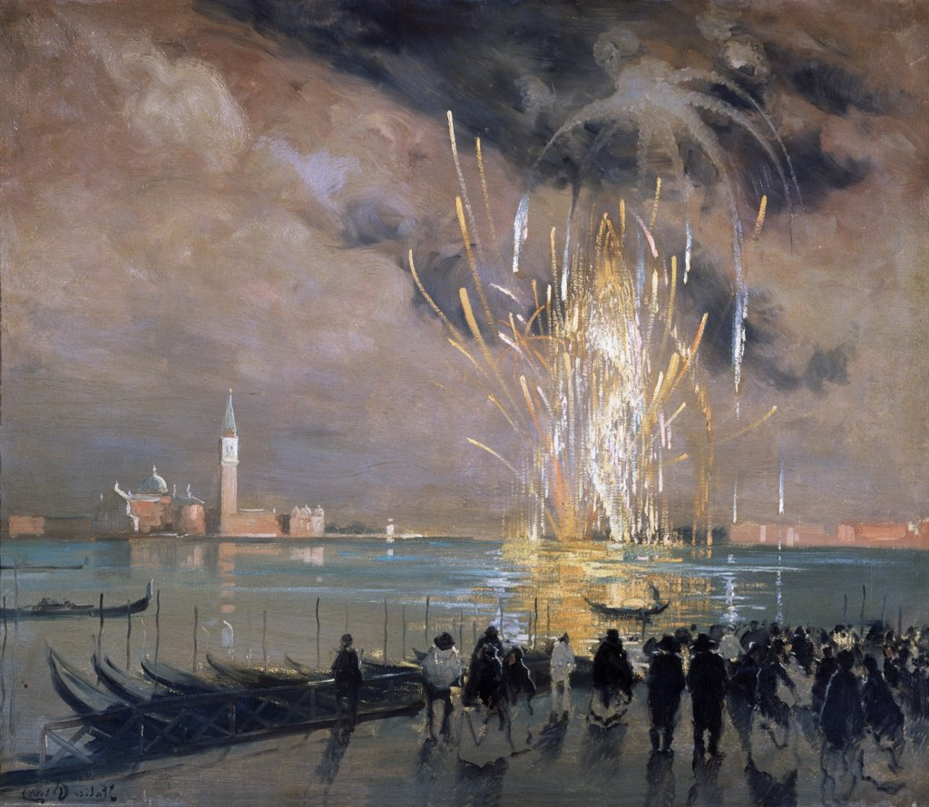 Stock Photo: 1030-640 Fireworks Over The Lagoon