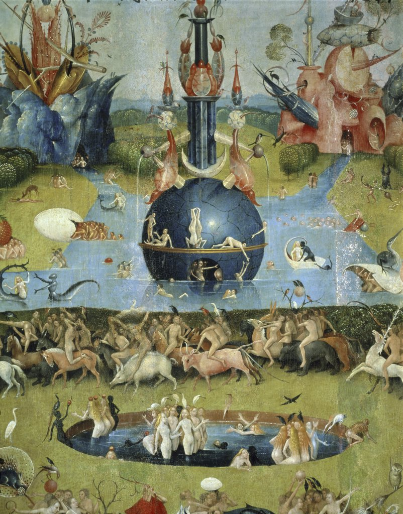 Stock Photo: 1030-732 Triptych:  The Garden of Earthly Delights Central Panel:  Allegory of Luxury Detail:  Upper Center