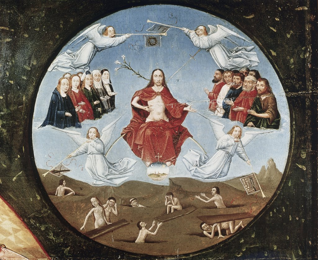 Stock Photo: 1030-733 Table of the Seven Deadly Sins (Detail of Last Judgement, Medallion of the upper right corner)