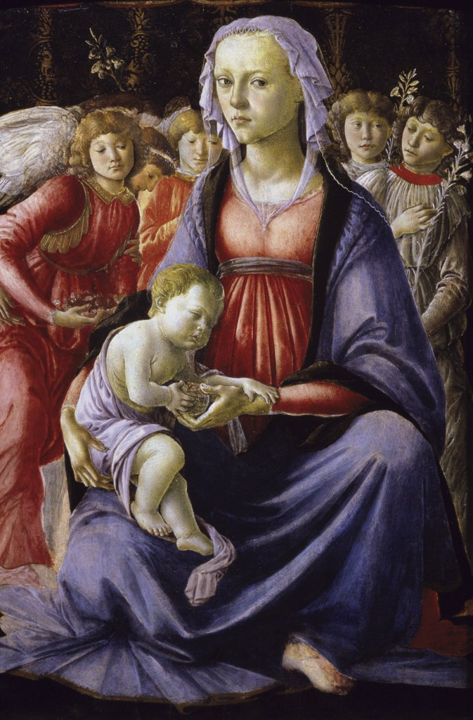 Stock Photo: 1030-765 The Virgin and Child Surrounded by Five Angels