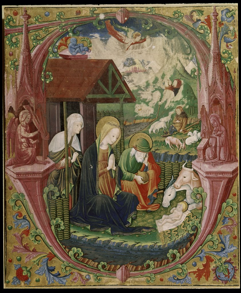 Stock Photo: 1030-803 Nativity Manuscripts 16th Century Musee Bonnat, Bayonne, France