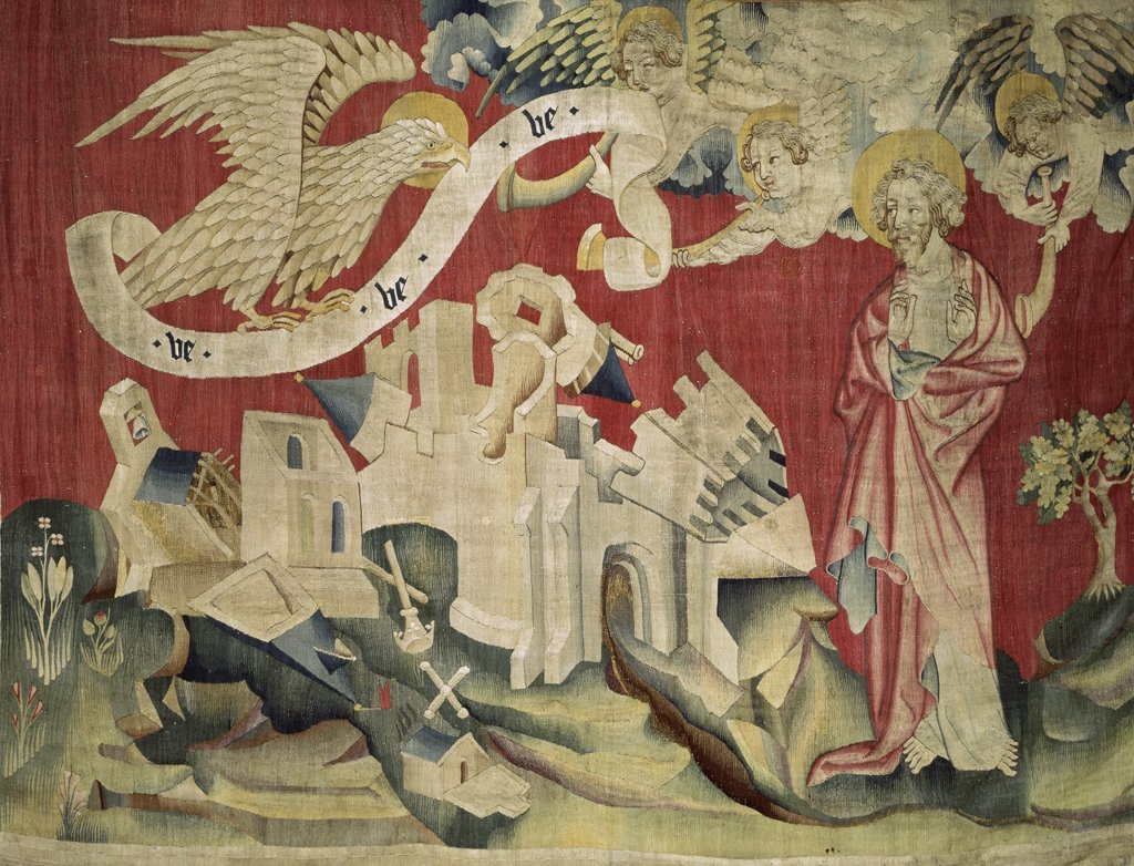 Stock Photo: 1030-809 Apocalypse of Angers. Fourth Trumpeter: The Eagle of Misfortune. No. 23.