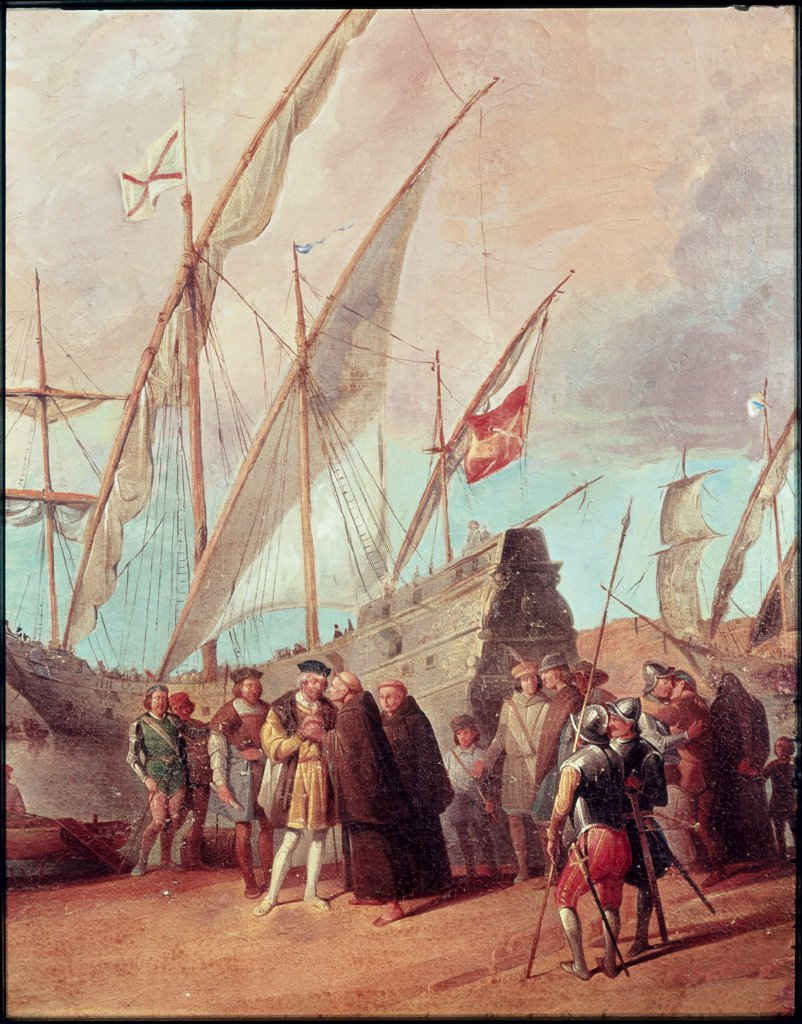 Stock Photo: 1030-850 Christopher Columbus's Departure for Palos