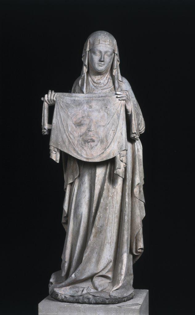 Saint Veronica Sculpture/Relief Eglise, Ecouis  : Stock Photo