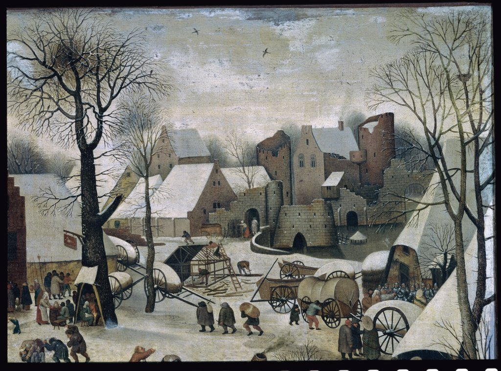 Stock Photo: 1030-915 The Census in Bethlehem. Detail: The City