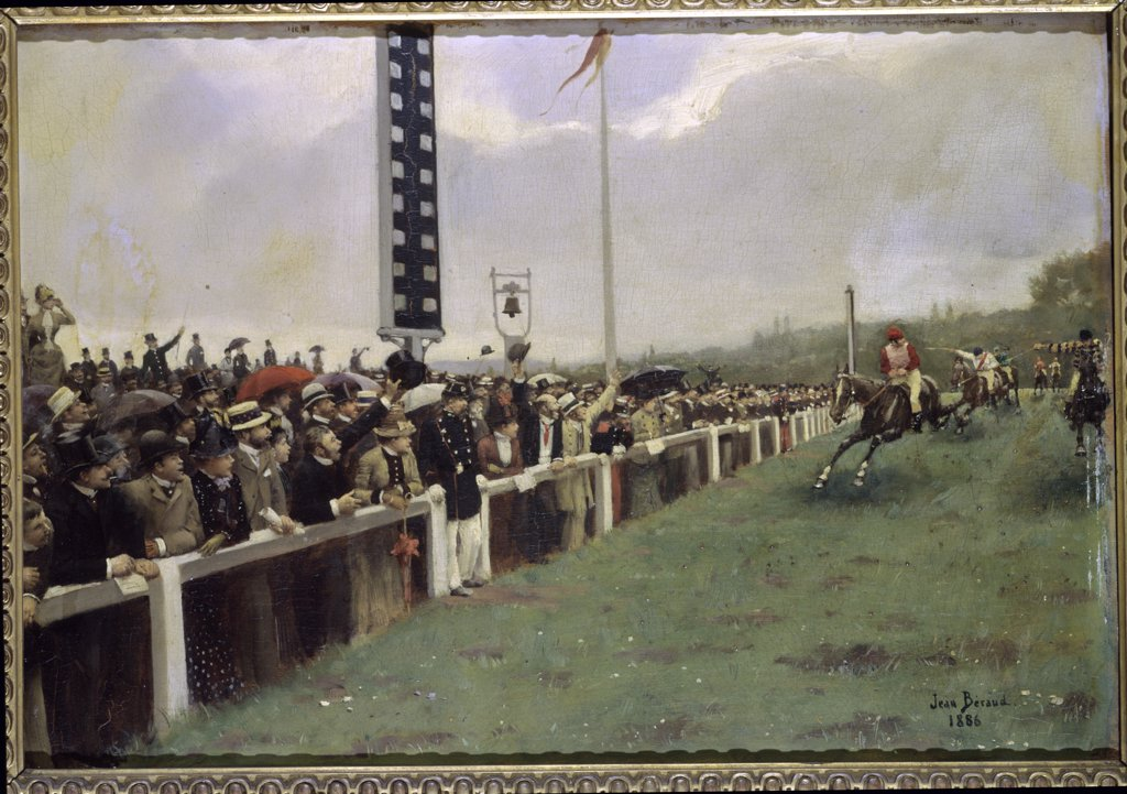 Stock Photo: 1030-942 The Races at Longchamp (The Finish Line) 