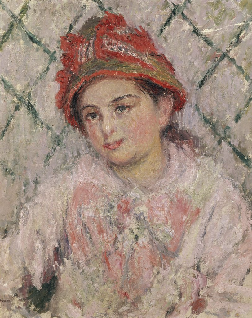 Stock Photo: 1030-96 Portrait of Blanche Hoschede as a Young Girl (Mme. Jean Monet)