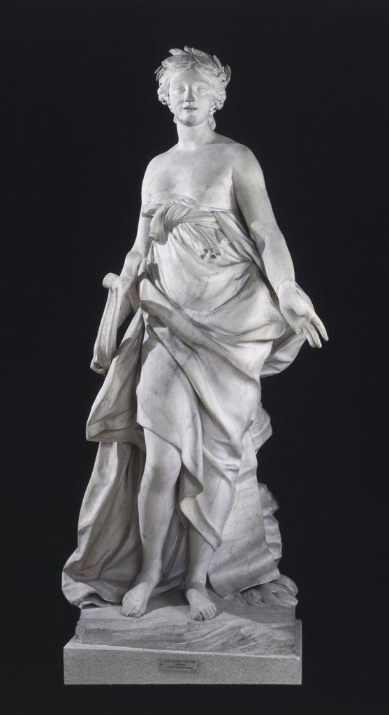 Stock Photo: 1030-965 La Musique The Music Etienne Maurice Falconet (1716-1791 French) Marble Sculpture Musee du Louvre, Paris, France