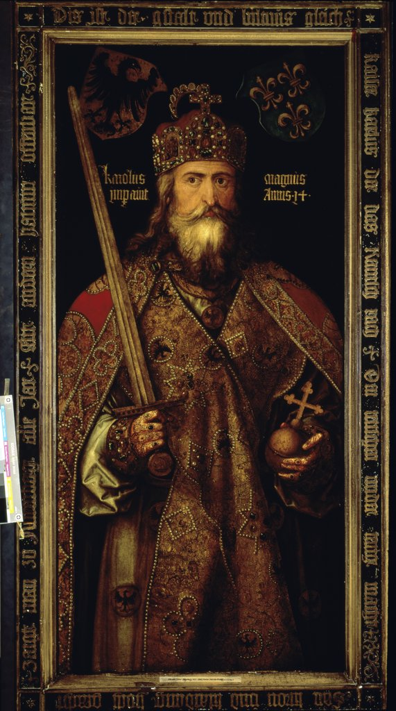 Stock Photo: 1030-991 Portrait of Charlemagne 