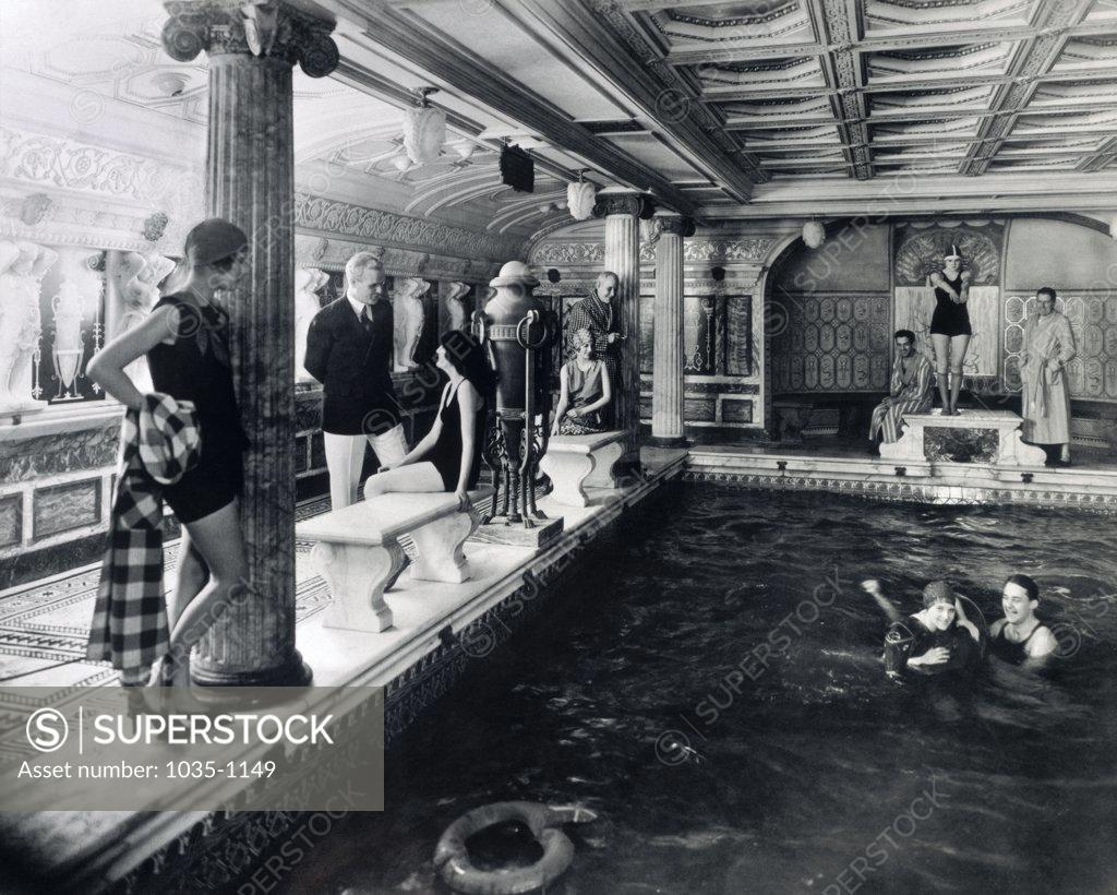 Stock Photo: 1035-1149 Cruise Ship Swimming Pool