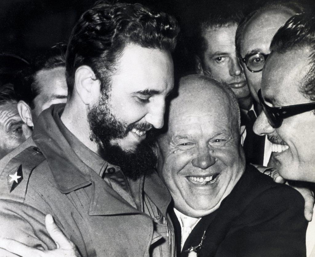 Stock Photo: 1035-1044 Fidel Castro and Nikita Khrushchev 1960