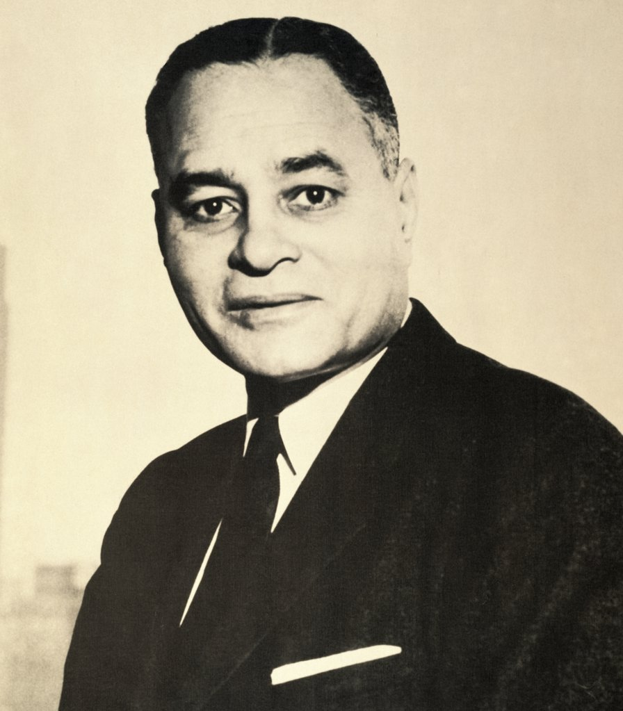 Stock Photo: 1035-1046 Ralph Bunche, (1904-1971), American Statesman