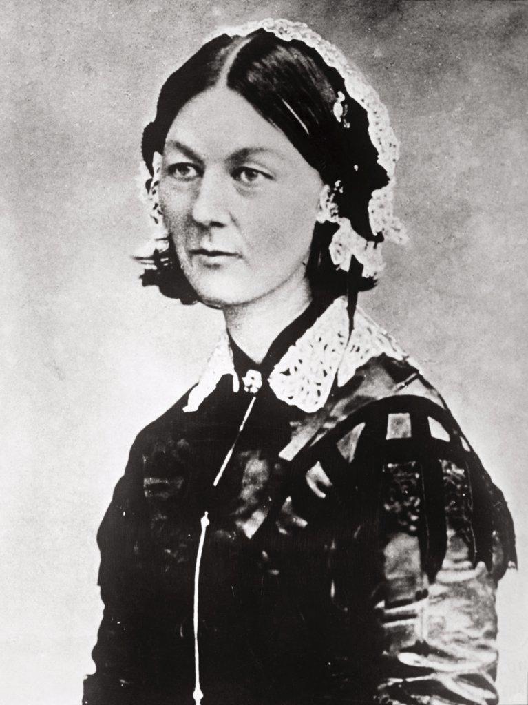 Stock Photo: 1035-1065 Florence Nightingale  (1820-1910)  British Nurse