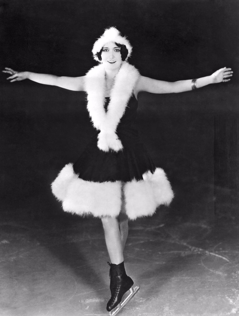 Stock Photo: 1035-11729 Hollywood, California:  c.1930. Dorothy Sebastian is known as a fancy skater and a hockey player in the celebrity world of Hollywood.