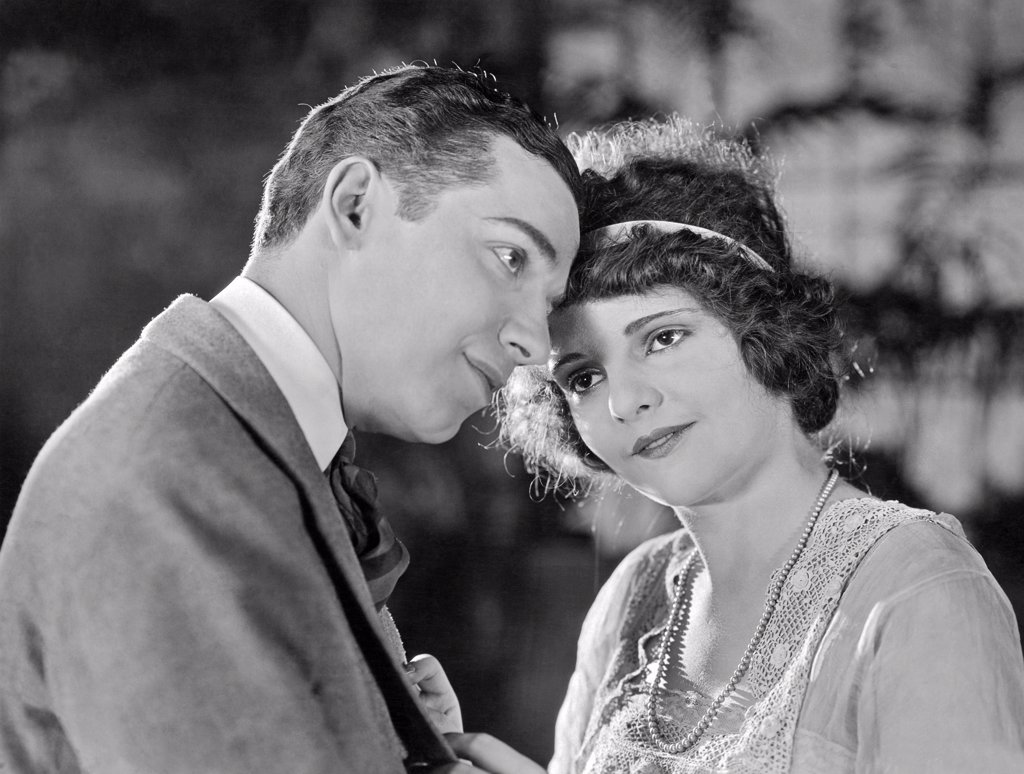 Hollywood, California:  1922. Two actors from the movie, 'My Friend The Devil', directed by Harry Millarde. : Stock Photo