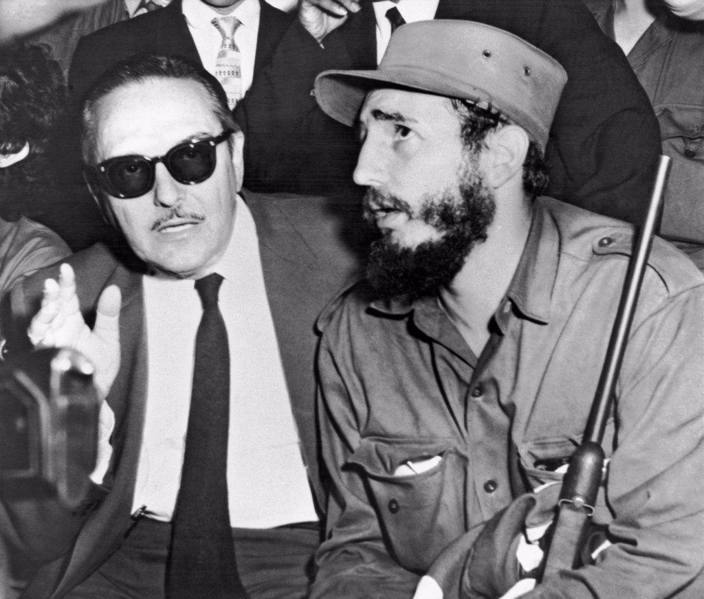 Stock Photo: 1035-12428 Havana, Cuba:   Jannuary 8, 1959. Fidel Castro and Cuban President Manuel Urrutia.