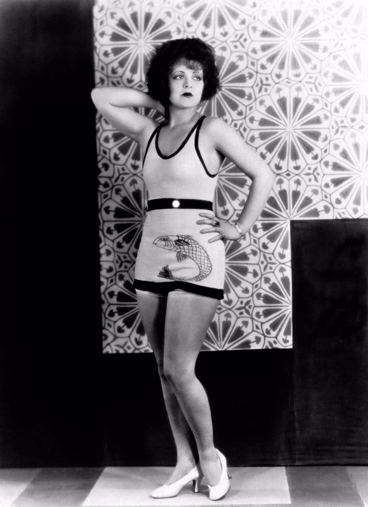 Stock Photo: 1035-12616 Hollywood, California:  1927 A portrait of actress Clara Bow. After appearing in the film, 'It', she became known as 'The It Girl', and was the sex symbol of the Roaring Twenties.