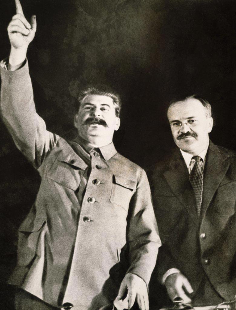 Stock Photo: 1035-453 Joseph Stalin-Soviet dictator, Vyacheslav Molotov-Soviet statesman, 1935