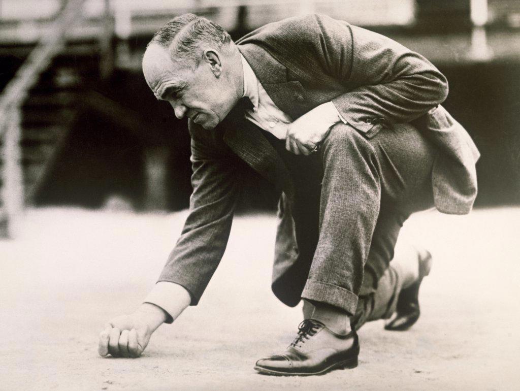 Stock Photo: 1035-535 National Marble Shooting Tournament Atlantic City, New Jersey, USA 1923