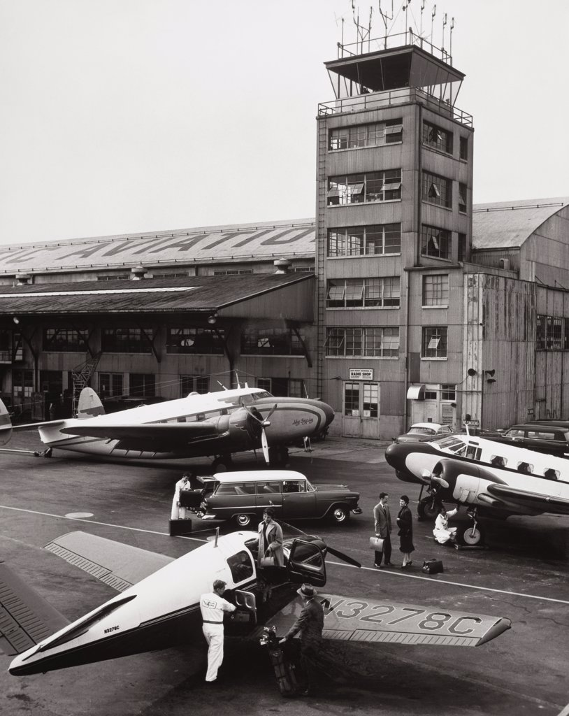 Teterboro Airport New Jersey, USA 1955 : Stock Photo