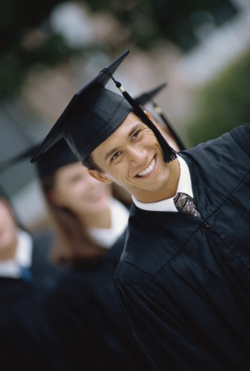 Stock Photo: 1042-1254A Group of young graduates