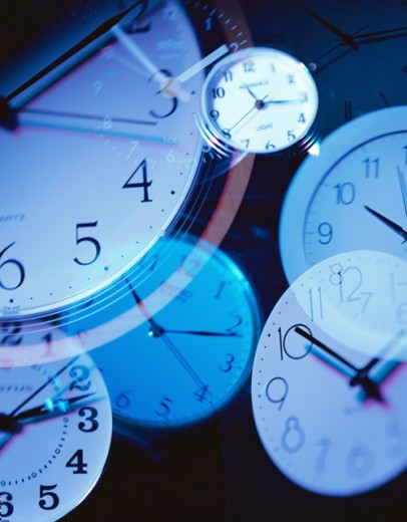 Close-up of clock faces : Stock Photo
