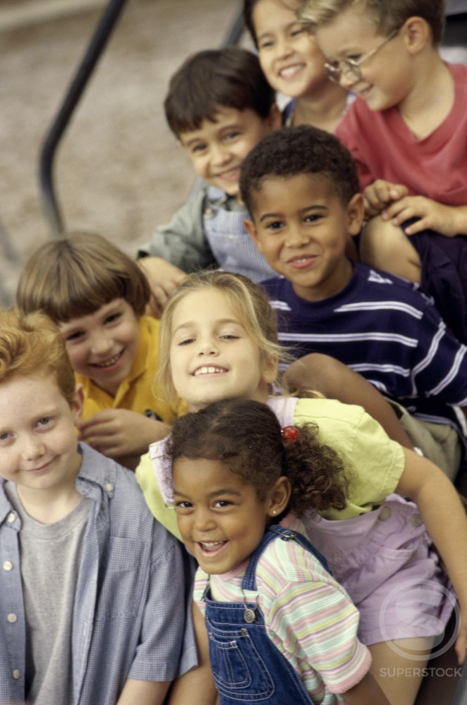 Stock Photo: 1042-4271 Portrait of a group of children