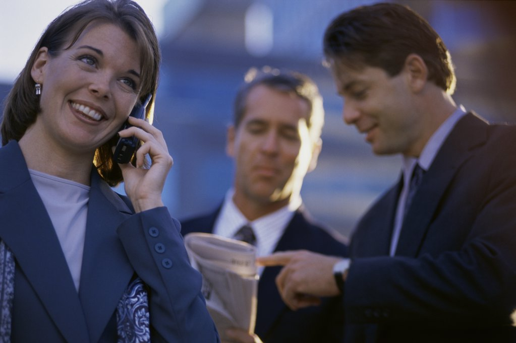 Stock Photo: 1042-4677C Businesswoman talking on a mobile phone